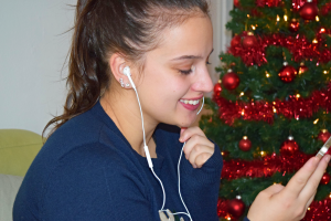 Kerstmuziek luisteren is mijn favoriete bezigheid!